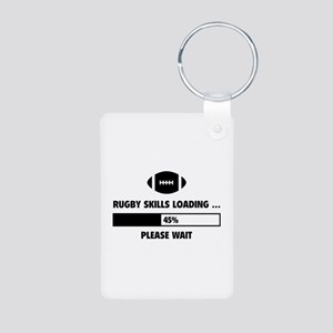 Rugby Skills Loading Aluminum Photo Keychain