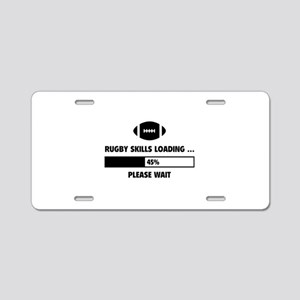Rugby Skills Loading Aluminum License Plate