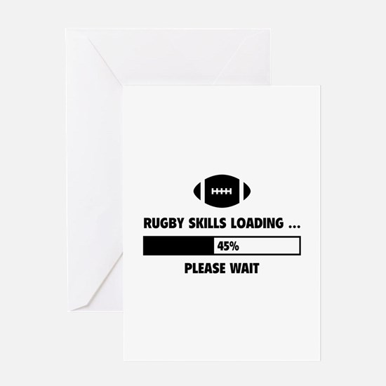 Rugby Skills Loading Greeting Card