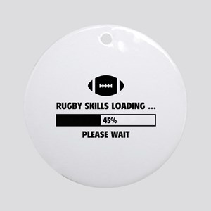 Rugby Skills Loading Ornament (Round)