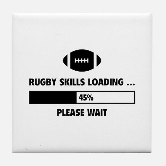 Rugby Skills Loading Tile Coaster