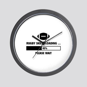 Rugby Skills Loading Wall Clock