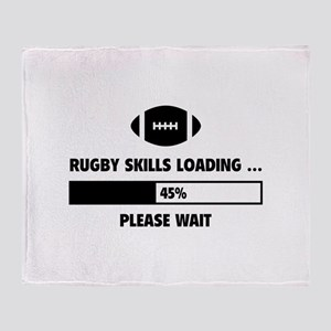 Rugby Skills Loading Throw Blanket