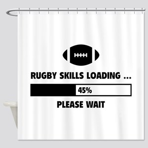 Rugby Skills Loading Shower Curtain
