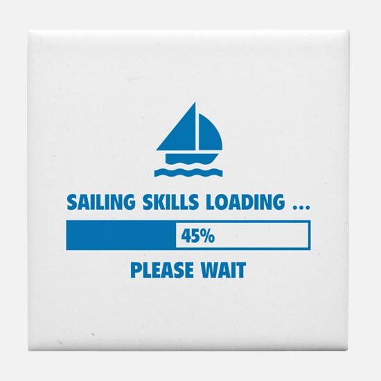 Sailing Skills Loading Tile Coaster