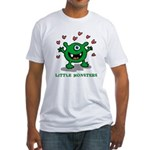 heart monster Fitted T-Shirt