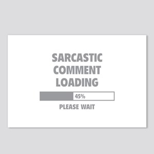 Sarcastic Comment Loading Postcards (Package of 8)