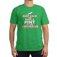 Keep Calm And Have A Pint Men's Fitted T-Shirt (da