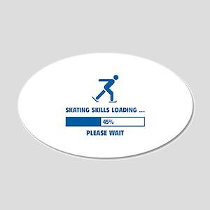 Skating Skills Loading 22x14 Oval Wall Peel