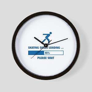 Skating Skills Loading Wall Clock