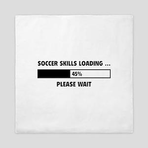 Soccer Skills Loading Queen Duvet