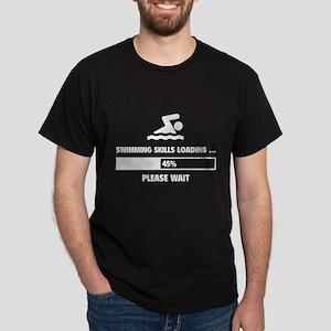Swimming Skills Loading Dark T-Shirt