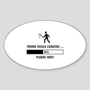 Tennis Skills Loading Sticker (Oval)