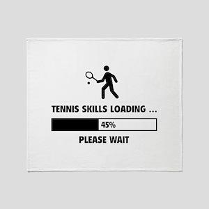 Tennis Skills Loading Throw Blanket