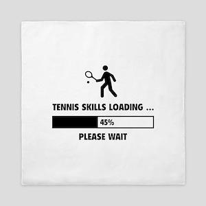 Tennis Skills Loading Queen Duvet