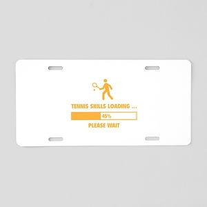 Tennis Skills Loading Aluminum License Plate
