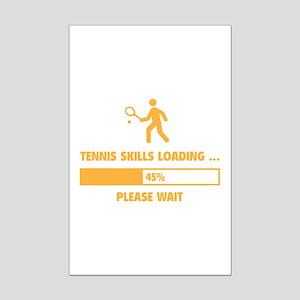 Tennis Skills Loading Mini Poster Print