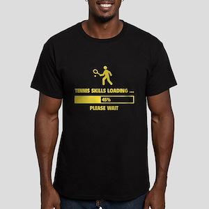 Tennis Skills Loading Men's Fitted T-Shirt (dark)