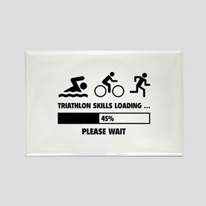 Triathlon Skills Loading Rectangle Magnet