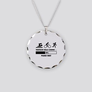 Triathlon Skills Loading Necklace Circle Charm