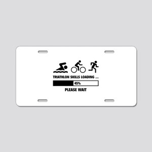 Triathlon Skills Loading Aluminum License Plate