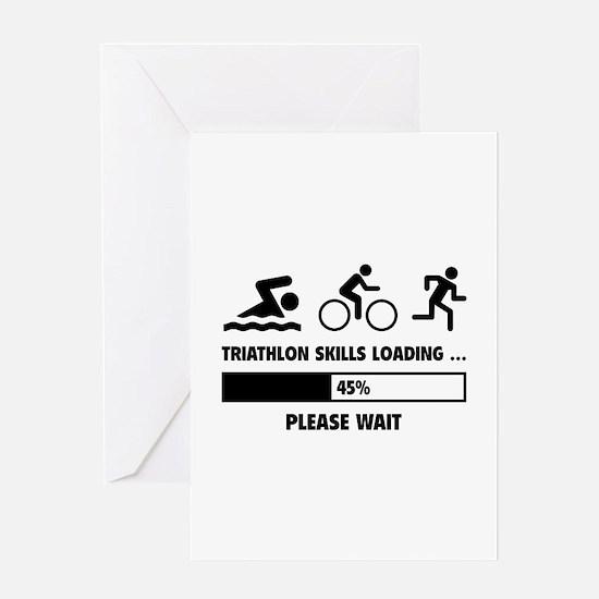 Triathlon Skills Loading Greeting Card