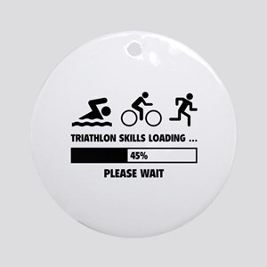 Triathlon Skills Loading Ornament (Round)