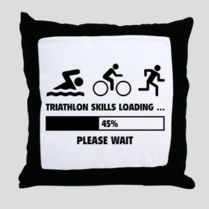 Triathlon Skills Loading Throw Pillow