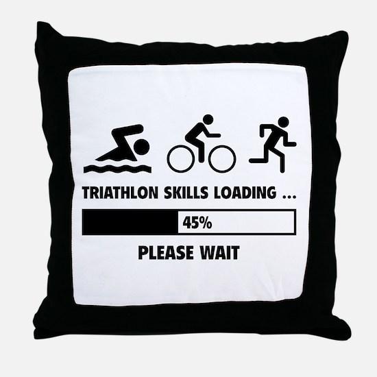 Triathlon Skills Loading Throw Pillow