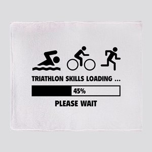 Triathlon Skills Loading Throw Blanket