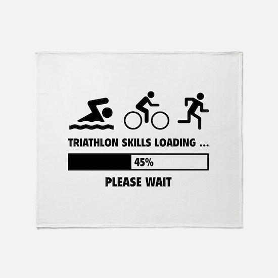 Triathlon Skills Loading Throw Blanket