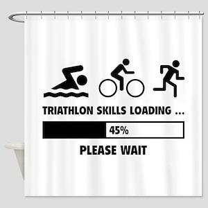 Triathlon Skills Loading Shower Curtain