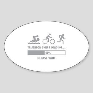 Triathlon Skills Loading Sticker (Oval)