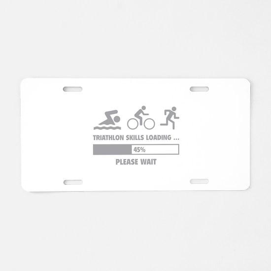 Triathlon Skills Loading Aluminum License Plate