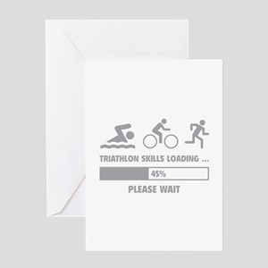Triathlon Skills Loading Greeting Card