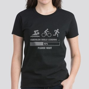 Triathlon Skills Loading Women's Dark T-Shirt