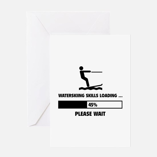 Waterskiing Skills Loading Greeting Card
