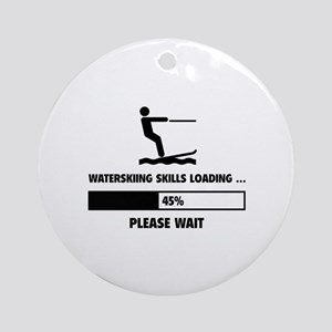 Waterskiing Skills Loading Ornament (Round)