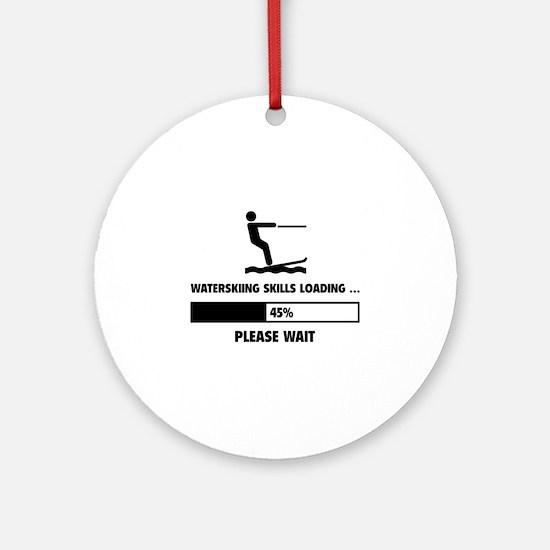 Waterskiing Skills Loading Ornament (Round)