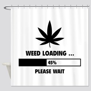 Weed Loading Shower Curtain