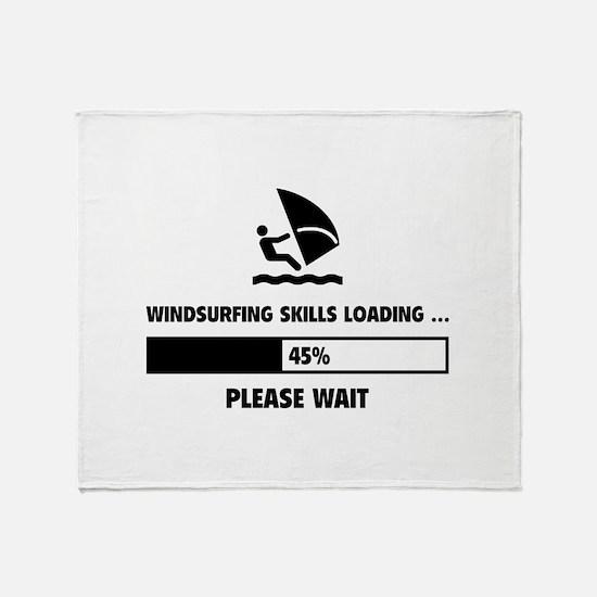 Windsurfing Skills Loading Throw Blanket