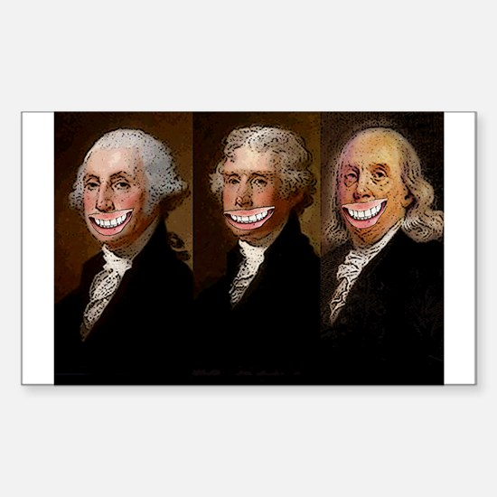 Laughing Founding Fathers Decal