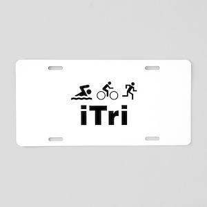 iTri Aluminum License Plate