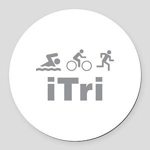 iTri Round Car Magnet