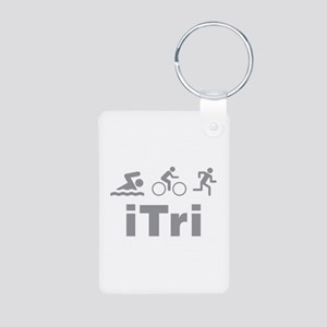 iTri Aluminum Photo Keychain
