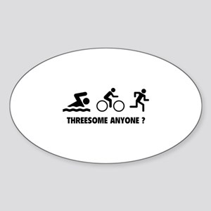 Threesome Anyone ? Sticker (Oval)