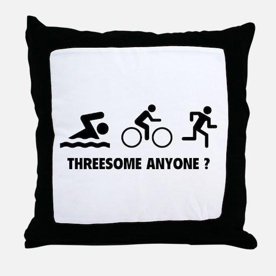 Threesome Anyone ? Throw Pillow