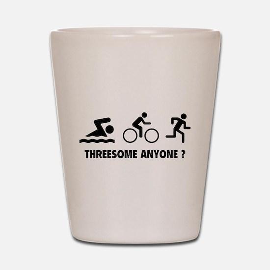 Threesome Anyone ? Shot Glass