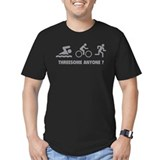 Threesome triathlon Fitted Dark T-Shirts