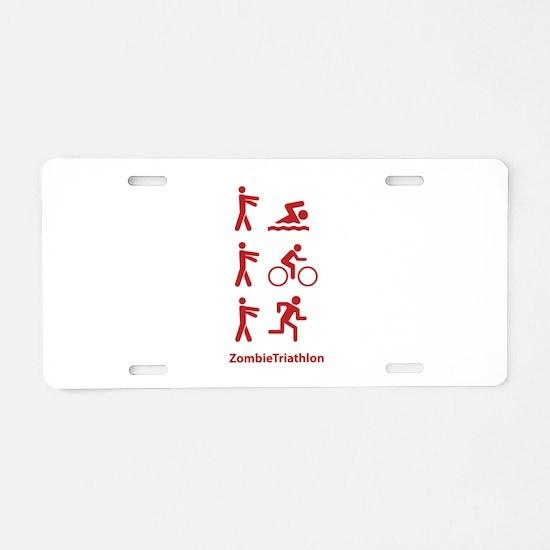 ZombieTriathlon Aluminum License Plate